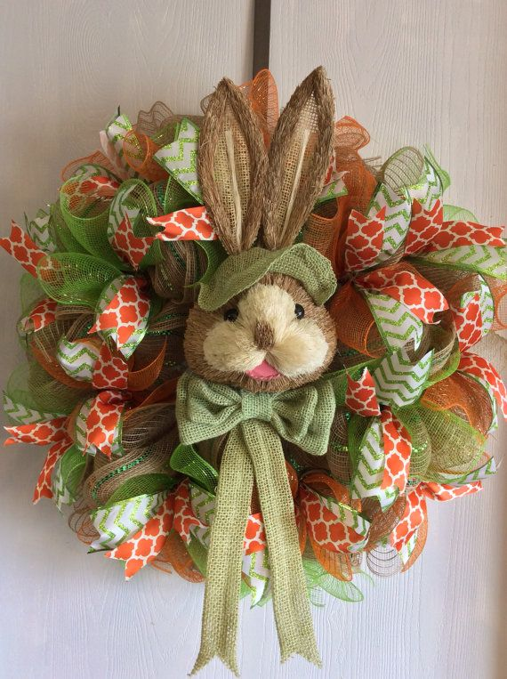 Photo of Easter wreath, Easter Burlap Wreaths,Easter Bunny Wreaths,Bunny Burlap Wreaths,Easter Bunny Wreath,Bunny Wreaths-Easter Wreaths