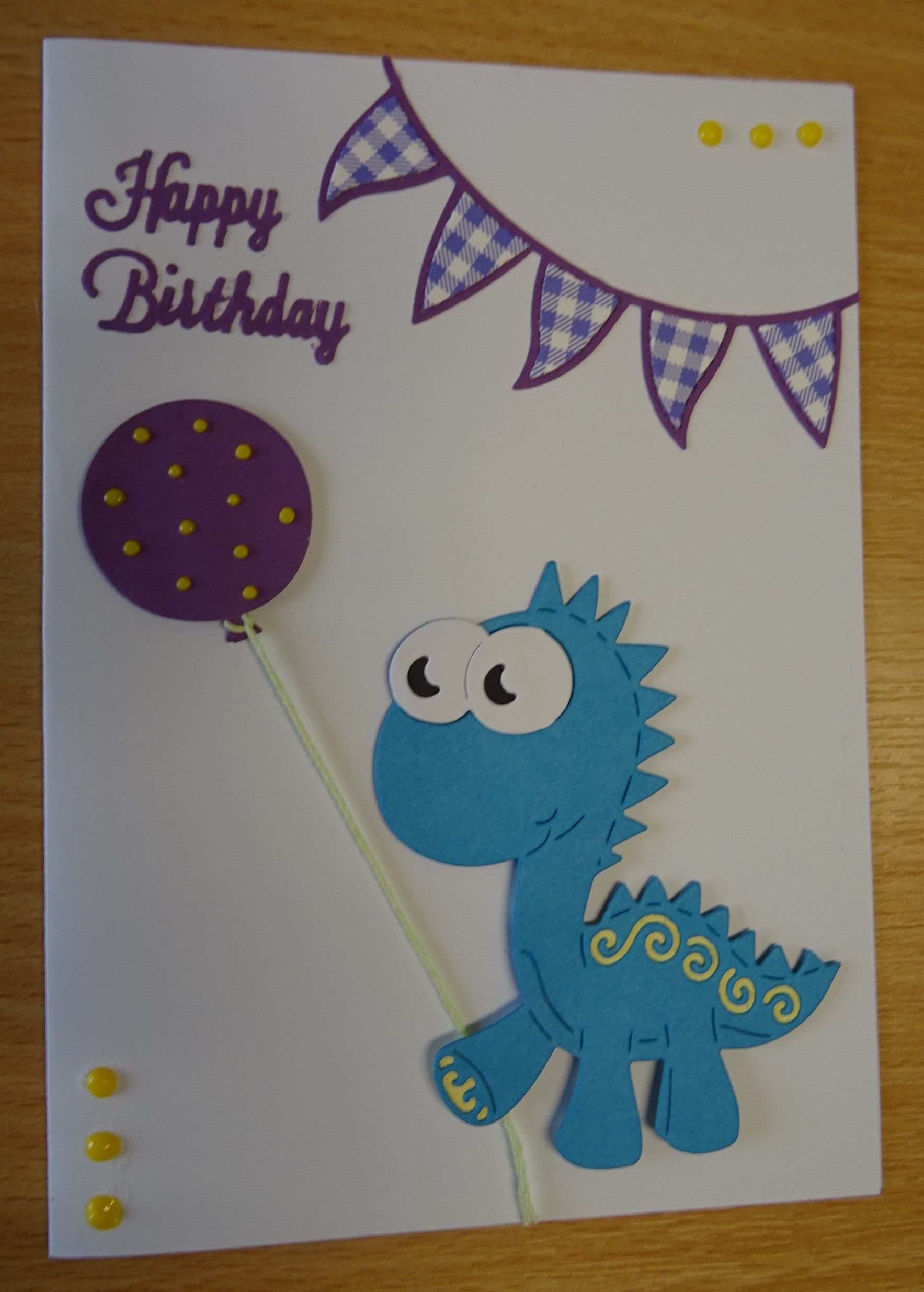 Handmade Birthday Card Tattered Lace Dinosaur Die For More Of My Cards Please Visit The Craftyca Handmade Craft Cards Cards Handmade Handmade Birthday Cards