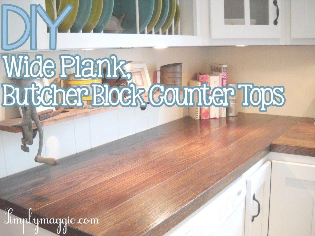 Diy Wide Plank Butcher Block Counter Tops Simplymaggie Com Butcher Block Countertops Diy Butcher Block Counter Butcher Block Counter