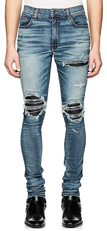 Mens MX1 Denim-Inset Slim Jeans Amiri Discount Best Store To Get Many Colors CWVV0XQ2nc