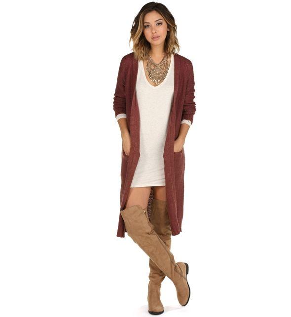 Final Sale- Mauve College Ready Knit Cardigan