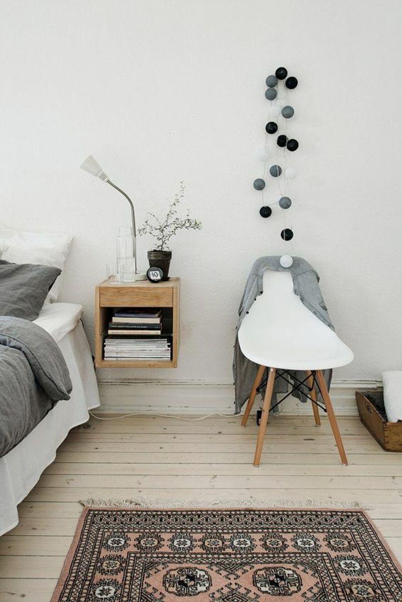Schlaszimmer Möbel Nachttisch Bett Eames Stuhl Weiß Mehr · Nachttisch  SkandinavischDeko ...