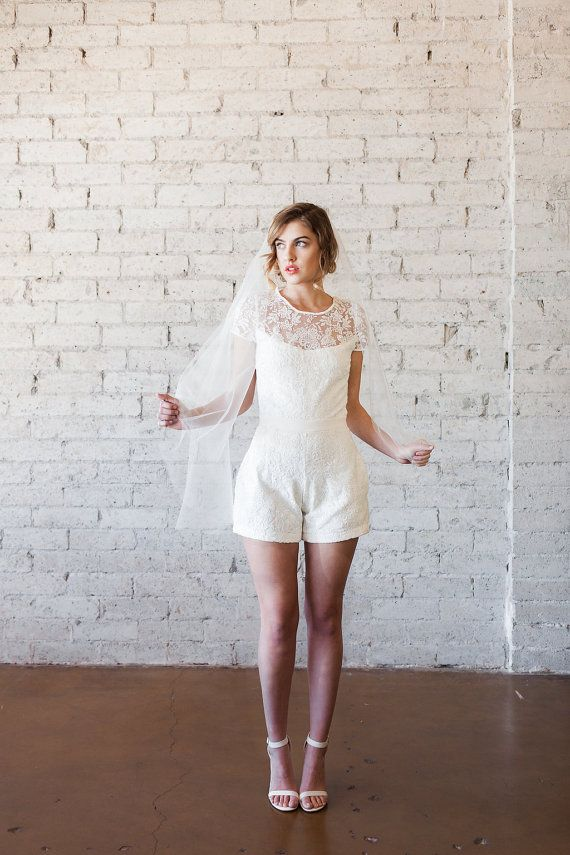 Lace Wedding Jumpsuit, Playsuit, Jumper, Romper – Steph by Cleo and Clementine