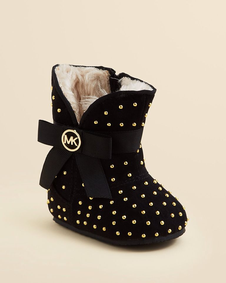 0774e05117 Black and gold MK baby boots