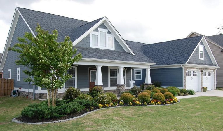 impressive front porch landscaping