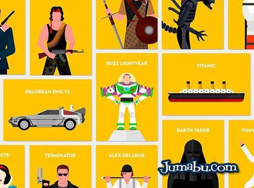 Personajes de Películas en Vectores Planos | Jumabu! Design Tools - Vectorizados - Iconos - Vectores - Texturas