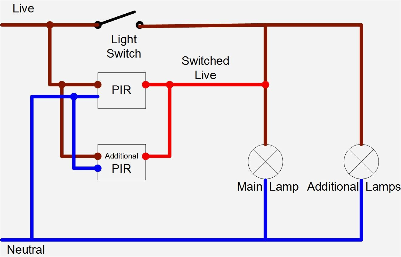 Image Result For How To Wire Motion Sensors In Parallel Wire Lights Electric House Three Way Switch