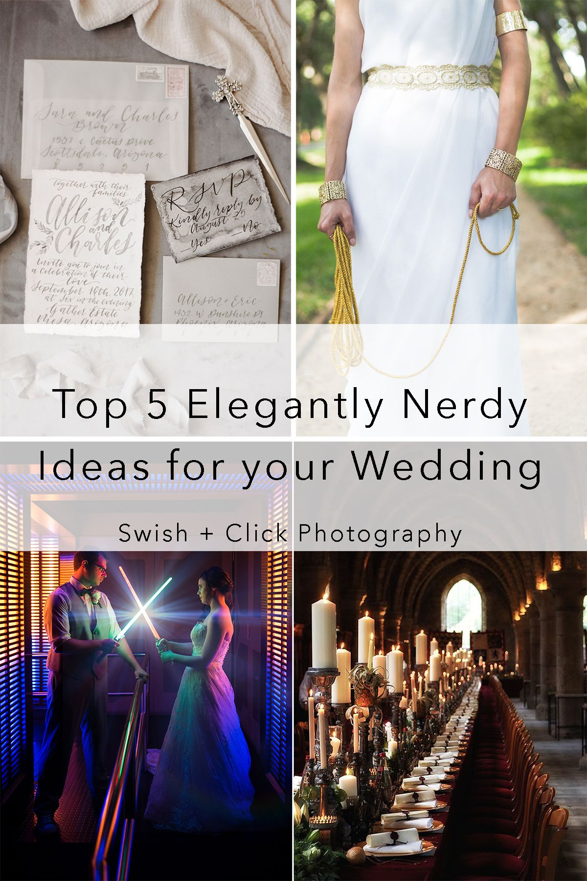 Top 5 Elegantly Nerdy Themes for Your Wedding | Wedding, Wedding ...