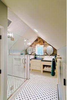 21 Beautiful Bathroom Attic Design Ideas Pictures Attic Renovation Traditional Bathroom Attic Design