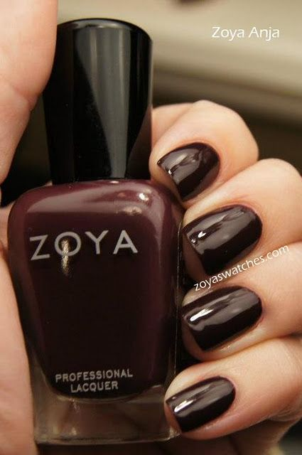 Zoya Anja I Usually Avoid Dark Colors But This Dark Red Burgundy Is Intriguing Glamour Nails Nail Polish Red Nails