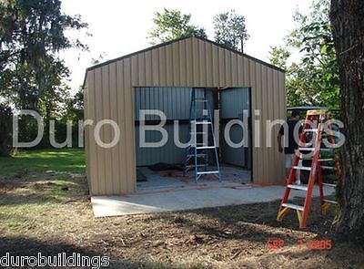 DuroBEAM Steel 24x24x12 Metal Building Kits DiRECT Prefab DIY Garage Workshop For USD599700