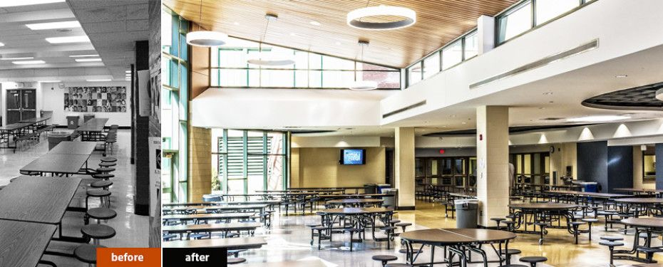 high school cafeteria design skylights and natural accents create an inviting atmosphere