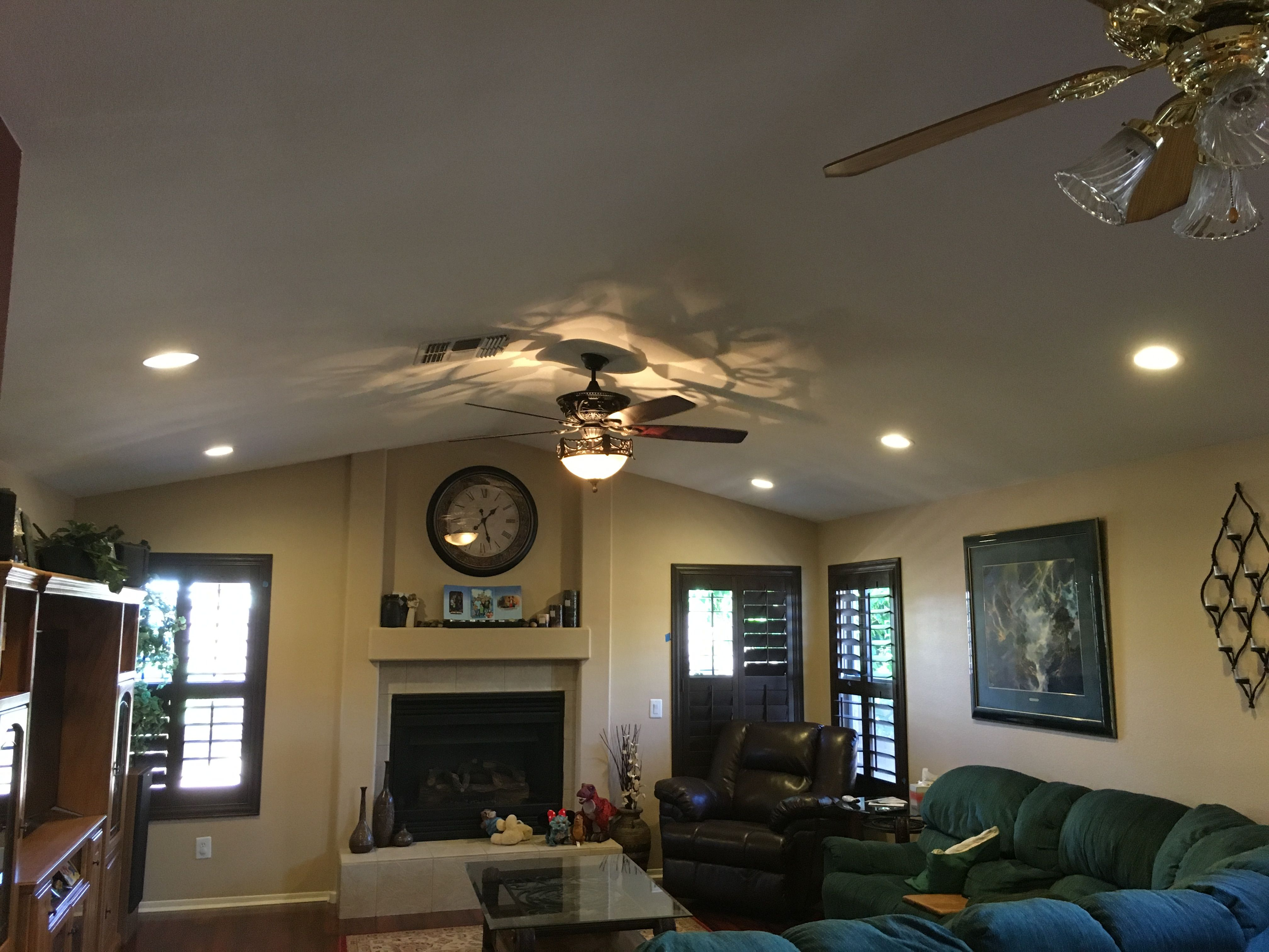 5 Led Recessed Lighting Installed In The Family Room