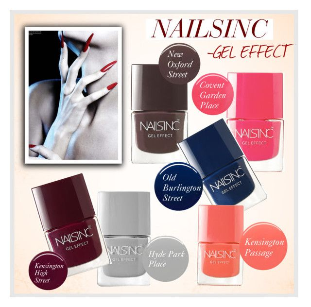 """""""Nail polish gel effect"""" by monmondefou ❤ liked on Polyvore"""