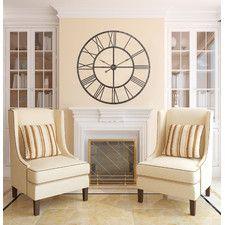 Oversized 44 5 Upton Wall Clock Hang Clock Over Fireplace Christian Wall Decals Family Wall Decals Mattress Furniture
