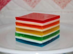 Hawaiian Rainbow Jello Recipe Rainbow Jello Jello Recipes Layered Jello