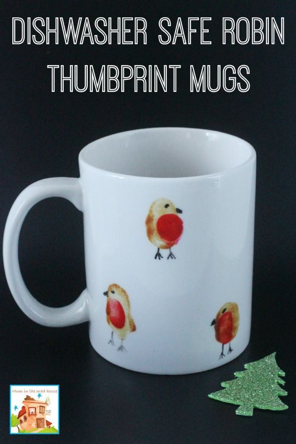 Robin Thumbprint Mugs | Art Activities | Pinterest | Christmas ...