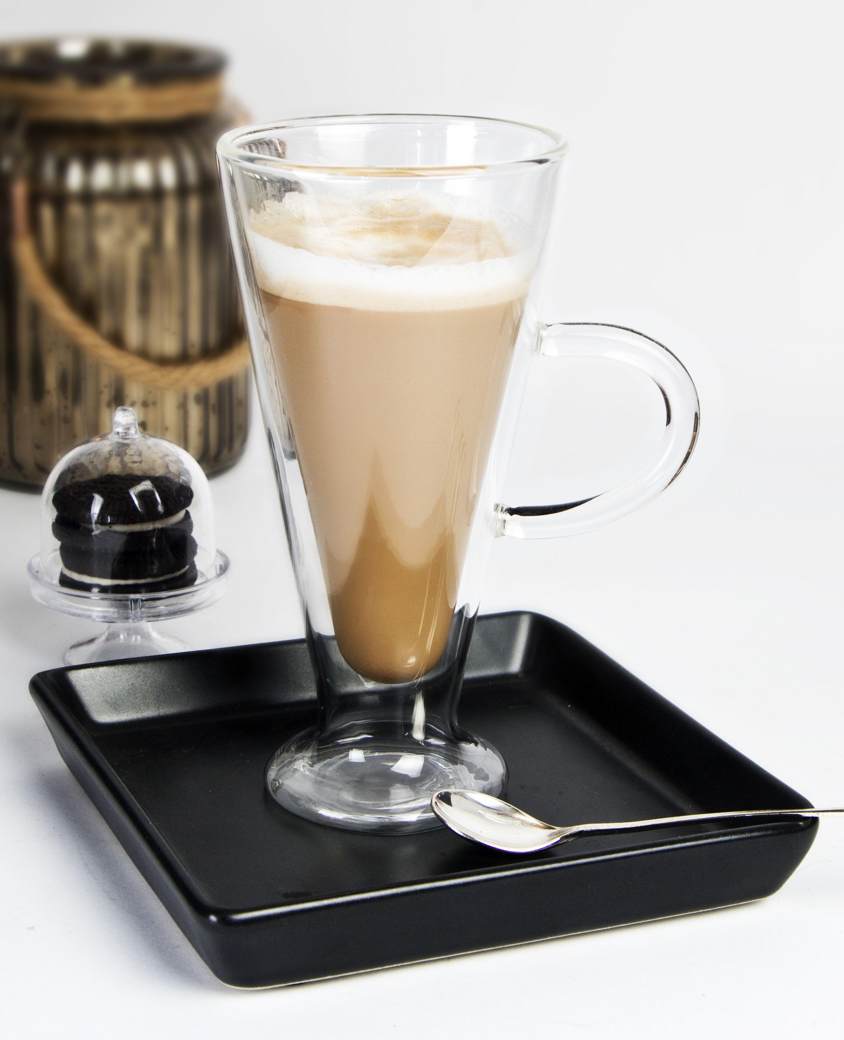 Idealne Do Kawy Latte Eleganckie Wyprofilowane Szklanki