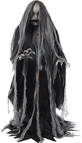 Creeper Rising Animated Halloween Prop Scary Haunted House Yard - scary halloween house decorations