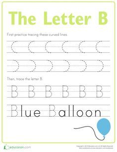 "The first step to building a righteous writer is to build great handwriting skills! Practice tracing the letters of the alphabet with this fun series. Take a look at other <a href=""http://www.education.com/worksheets/the-alphabet/"">alphabet worksheets</a> to practice more letters."