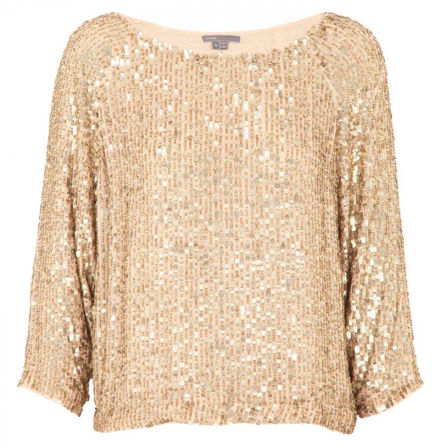 Harvey Nichols gold sequin top   Sequin top, Gold sequin top ...