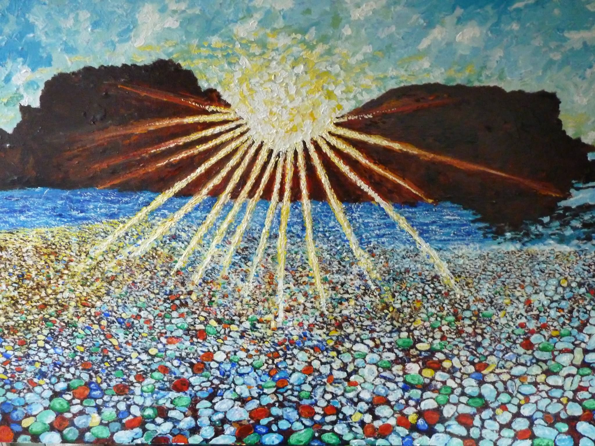 """The completed work """"Glass Beach"""" by Philip Barousse"""