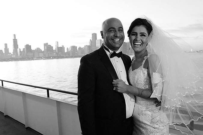 Wedding aboard the Mystic Blue in Chicago, IL