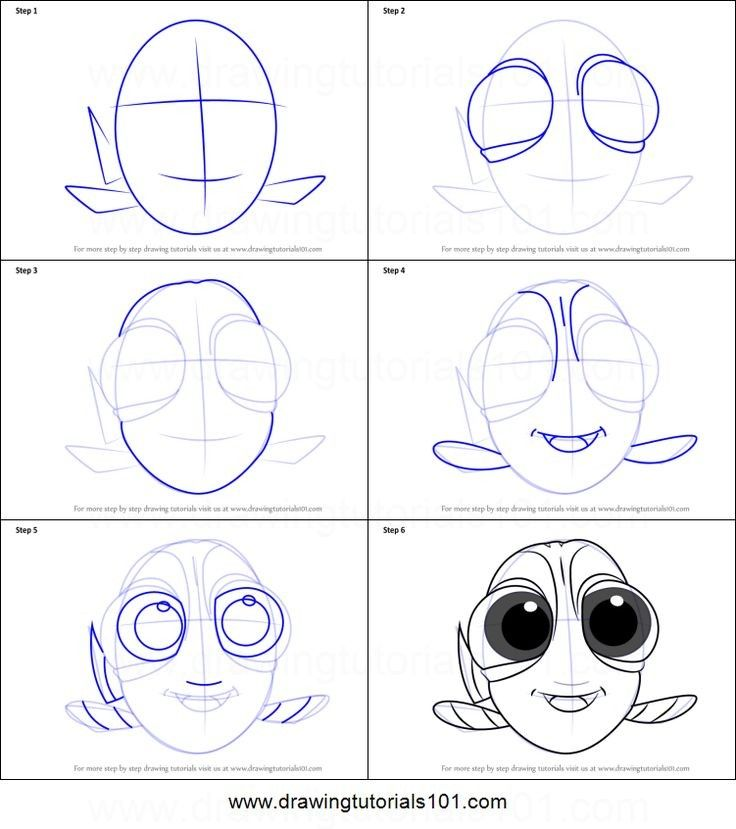 Baby Dory Colouring Pages Dory drawing, Easy disney