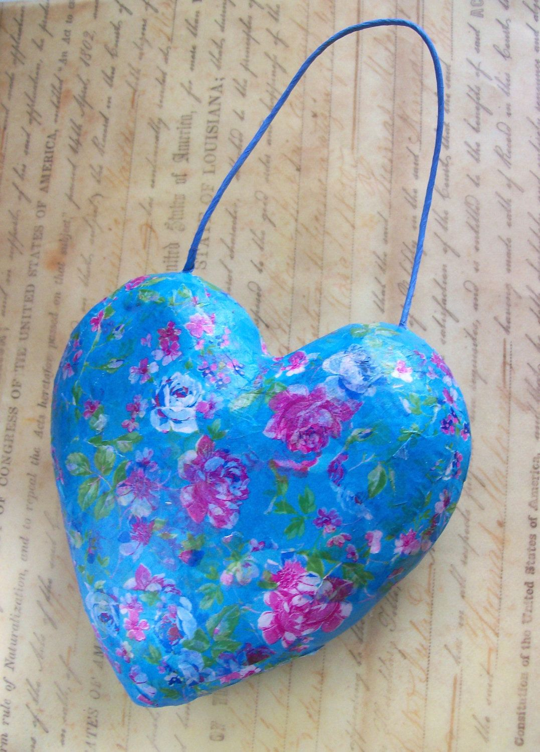 Paper Mache Heart With Images Shabby Chic Paper Heart