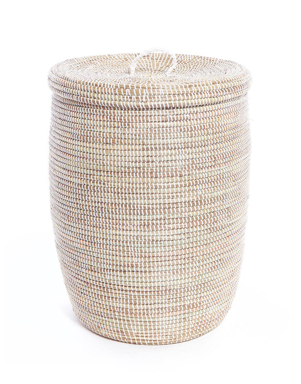 Tall Hamper White Laundry Hamper Woven Baskets Storage Woven Hamper
