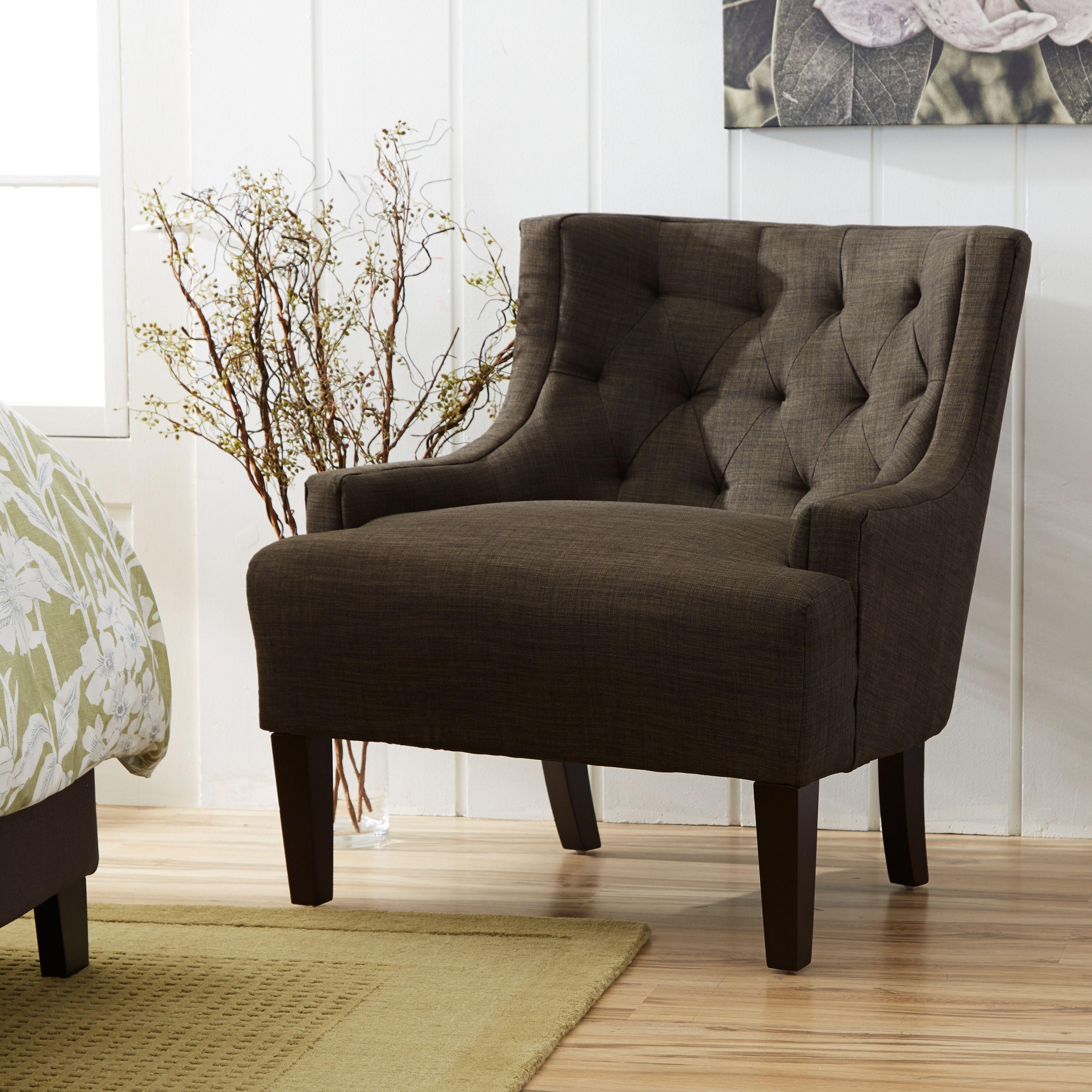 Topline Furniture Dawan Tufted Accent Arm Chair