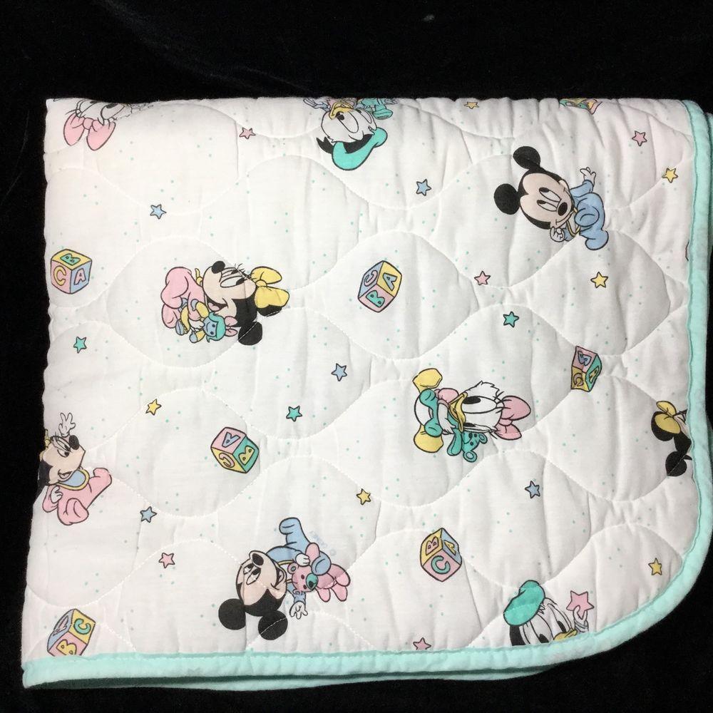 Vintage disney babies mickey minnie mouse donald crib baby bedding