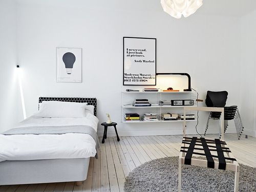 B/W - Bedroom