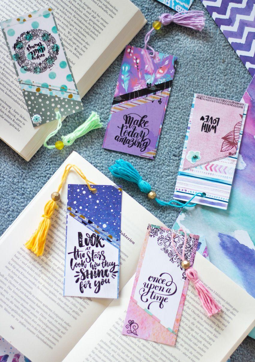 Quick DIY: Papier-Lesezeichen hübsch gestalten | Das perfekte ...