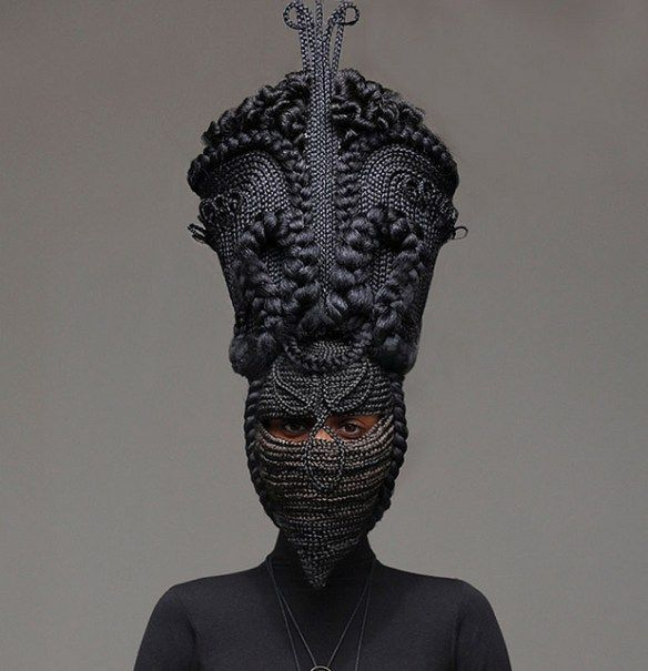 The Otherworldly Hair Sculptures of Joanne Petit-Frere | Hi-Fructose Magazine