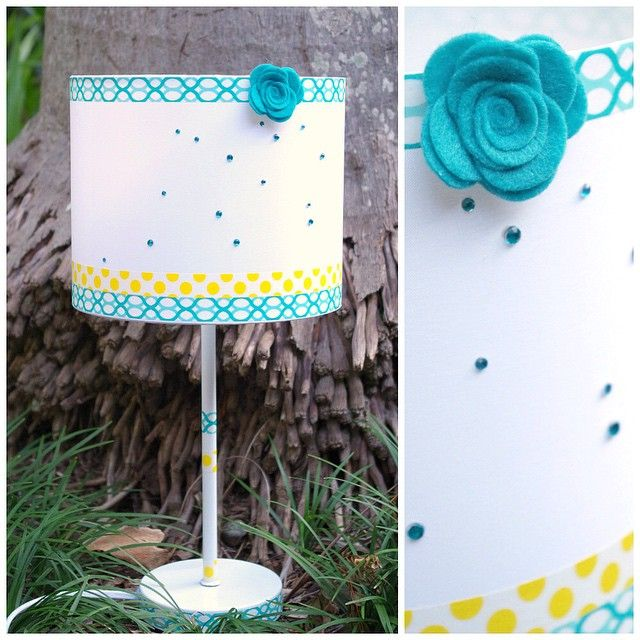 What you get when you take a $10 lamp from Kmart, add some @dlishscraps washi tapes, rolled felt rose and adhesive rhinestones. Custom lamp in under 10 minutes!  #dlishscraps #kmarthack #kmartlove #kmartausshare