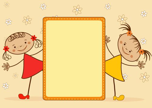 cartoon cute kids vector material 01 vector cartoon free download