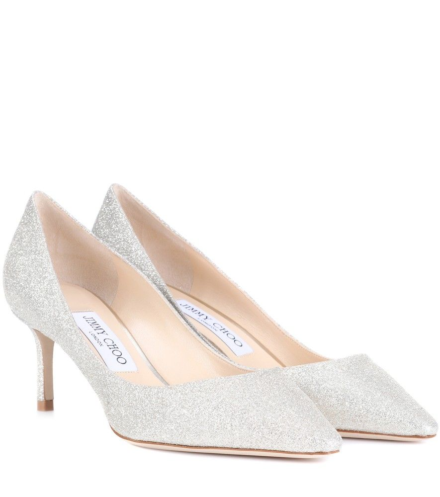 Jimmy Choo - Romy 60 glitter pumps - Jimmy Choo s Romy 60 pumps are crafted  with a coating of sparkling pale golden glitter for a luxe look. c674ace3669