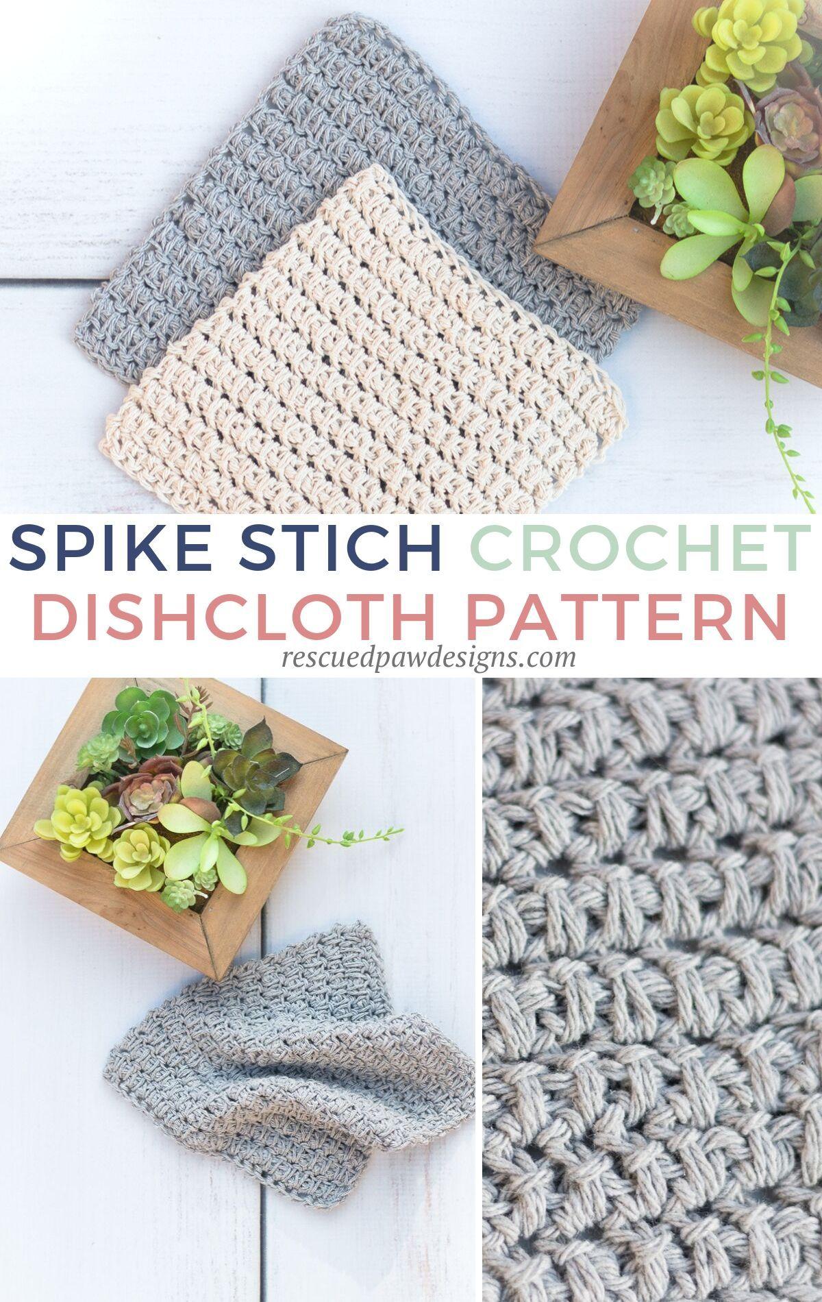Photo of Easy Herringbone Half Double Crochet Dishcloth