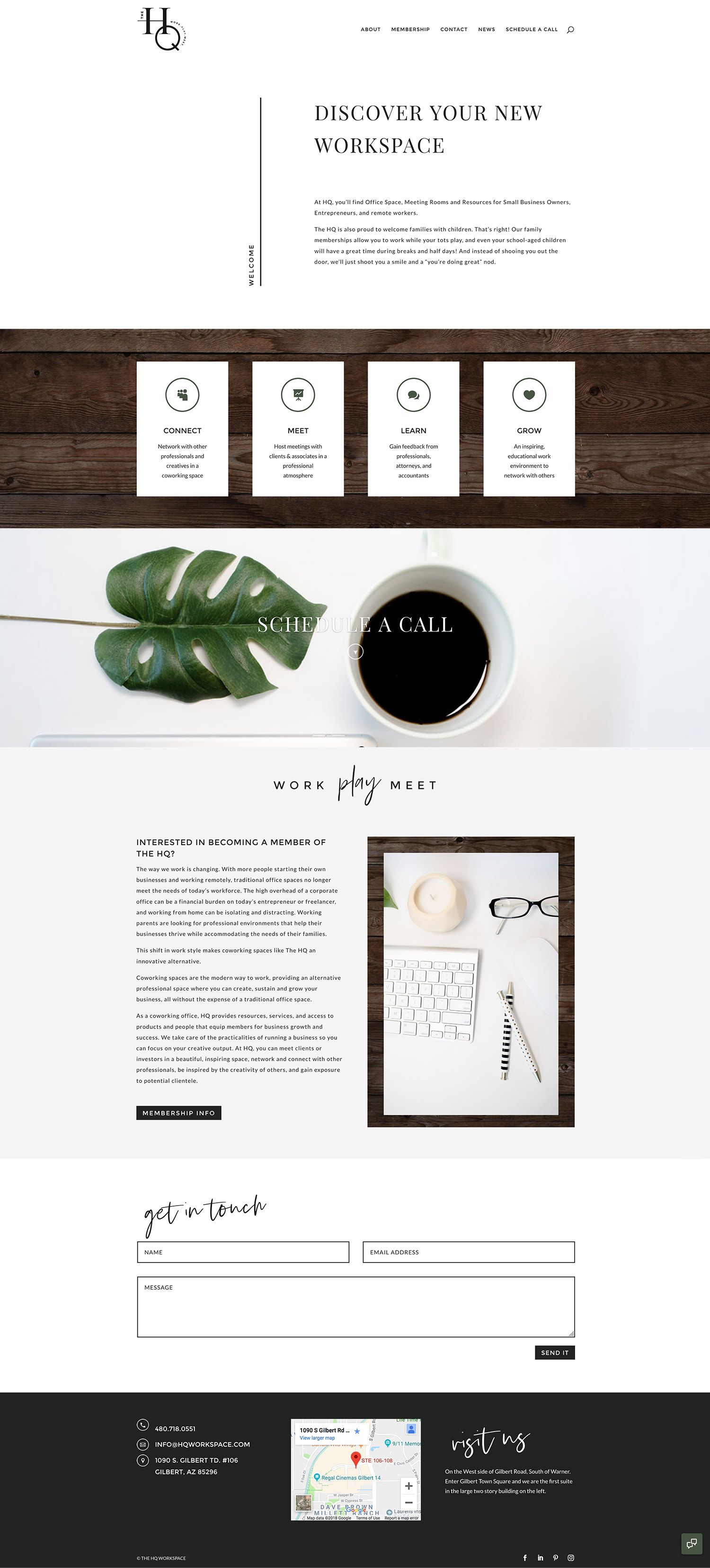 The Hq Divi Website Design By Rachael Earl Design Website Design Web Design Logo Web Design Inspiration Layout