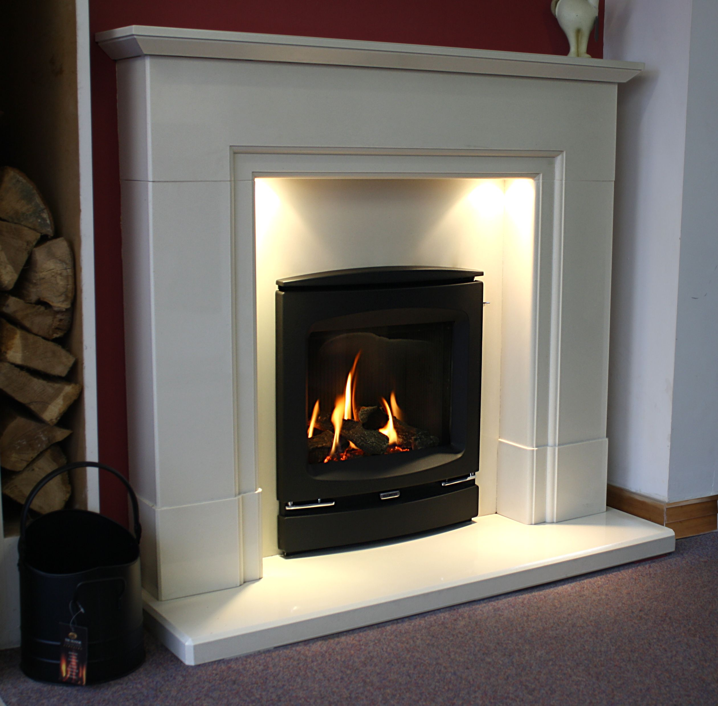 Showroom Fire Of The Day The Gazco Logic He Inset Log Effect Gas
