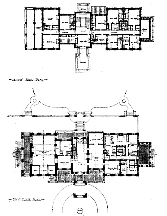 Winfield Hall the Frank Winfield Woolworth estate designed by – Winfield House Floor Plan