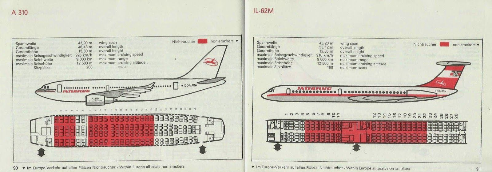 Interflug Seat Maps Airlines Airline Map