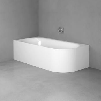Bette Lux Oval IV Silhouette Sonderform Badewanne weiß BetteGlasur mit Multiplex M5 in chrom