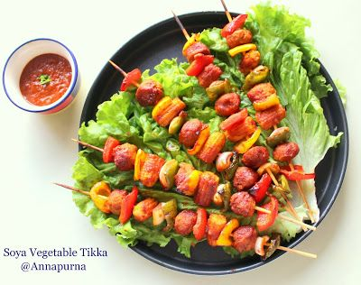 Annapurna Soya Vegetable Tikka / Healthy Vegetarian