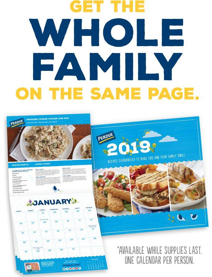 *HOT* FREE Perdue 2019 Recipe Calendar. LINK HERE>> https