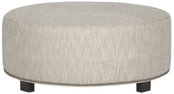 Remarkable Vanguard Furniture W180C Ot Benett Circular Ottoman In Ibusinesslaw Wood Chair Design Ideas Ibusinesslaworg