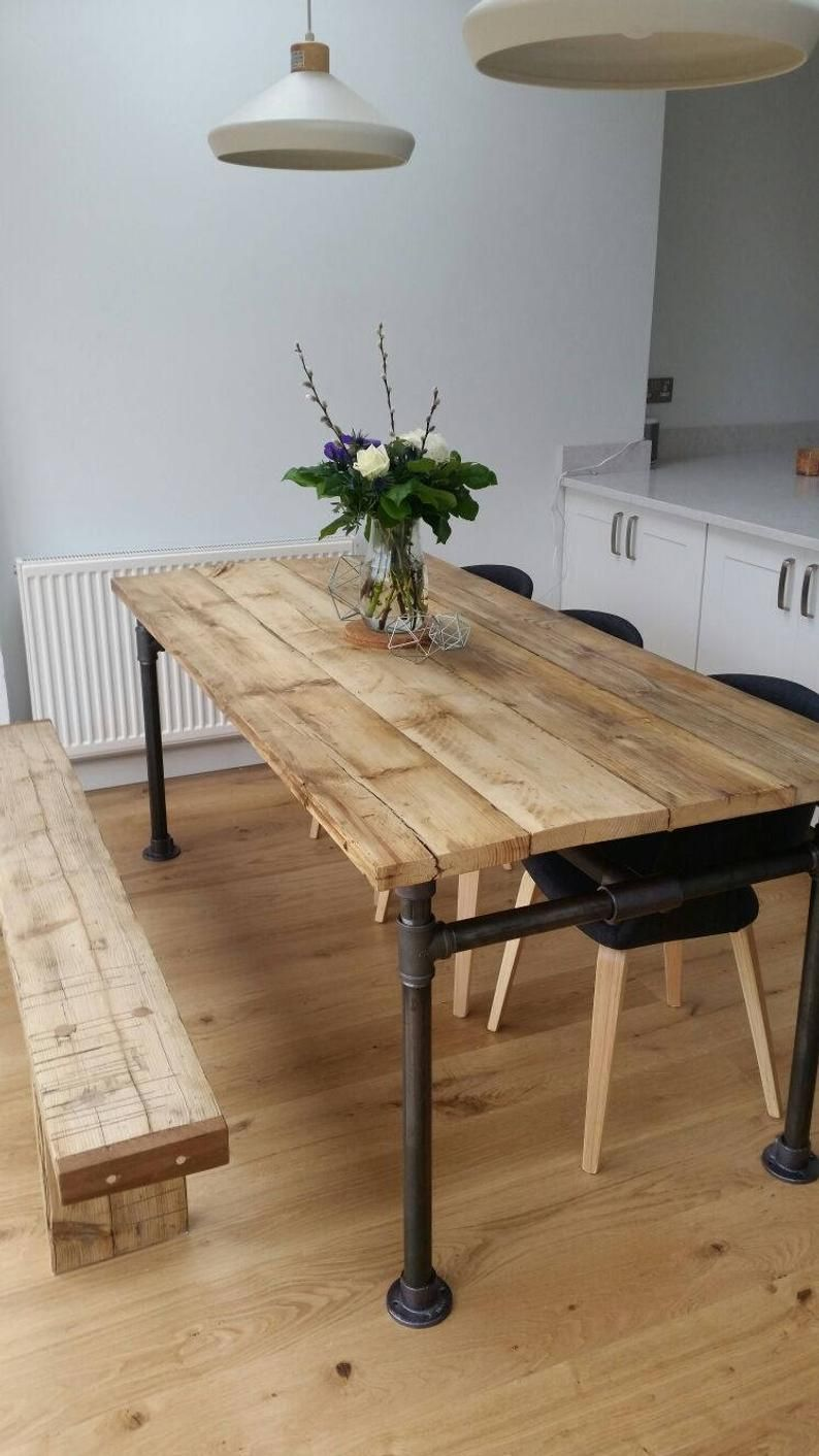 Rustic Scaffold Board and Gas Pipe Table