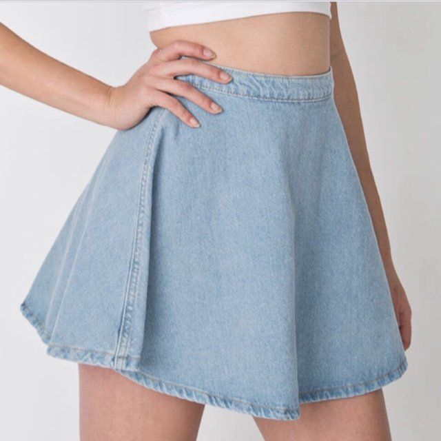 8b41c4b7c NWT forever 21 denim circle skirt! Similar to the one from American  Apparel! Tags: Brandy Melville, American Apparel, Urban Outfitters - Depop