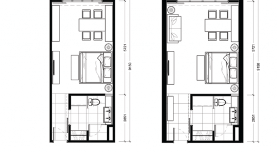 Hotel Room Floor Plan With Dimensions